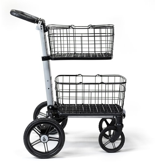 portable city shopping cart with baskets scout cart usa
